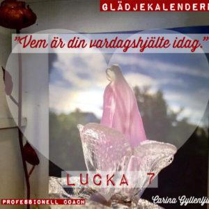 Lucka 7 Vem är din vardagshjälte idag?