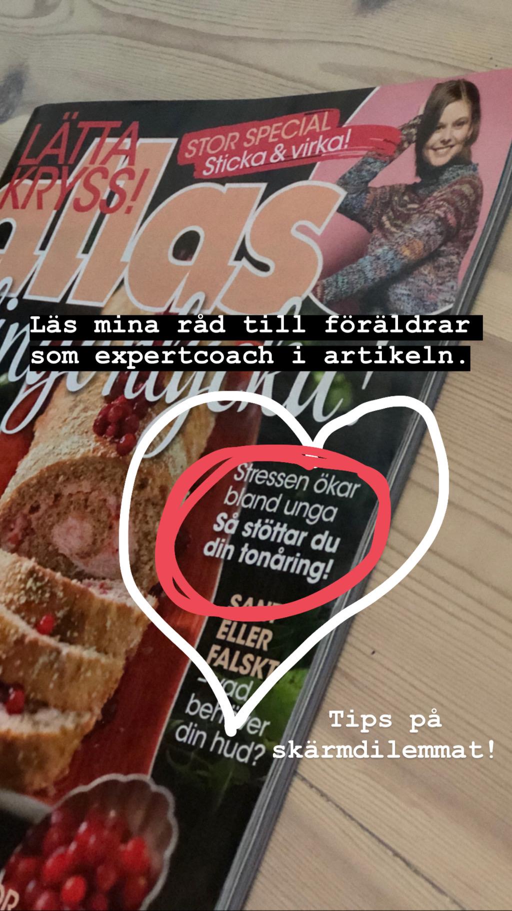 Jenny Åsenlund är expertcoach i tidningen Allas.